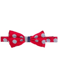 Canali Pajarita Bow Tie Red