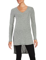 Splendid Hi Lo Thermal Tunic Top Grey