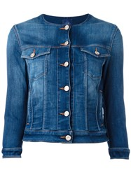 Jacob Cohen Round Neck Denim Jacket Blue