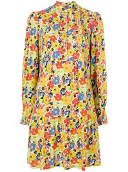 A.P.C. Floral Print Dress Yellow And Orange