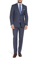 Hart Schaffner Marx New York Classic Fit Solid Wool Suit Medium Blue
