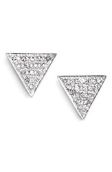 Women's Dana Rebecca Designs 'Emily Sarah' Diamond Pave Triangle Stud Earrings White Gold Nordstrom Exclusive