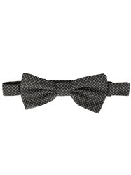 Dolce And Gabbana Jacquard Bow Tie Black