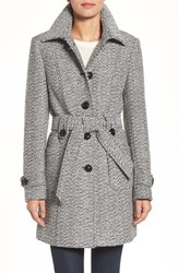 Gallery Women's Belted Tweed Coat