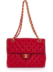 Chanel Vintage Quilted Shoulder Bag Red