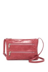 Hobo Mara Leather Zipper Crossbody Pink
