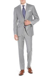 Peter Millar Big And Tall Flynn Classic Fit Solid Wool Suit Light Grey