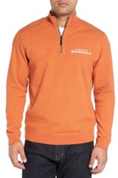 Tommy Bahama 'Nfl Flipside Pro' Quarter Zip Pullover Orange