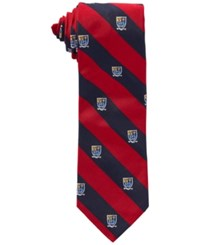 Polo Ralph Lauren Narrow Club Silk Tie Red