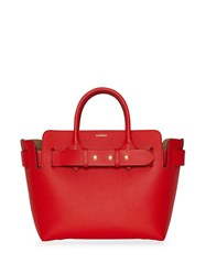 Burberry The Small Leather Triple Stud Belt Bag Red