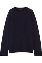 The Row Sibel Wool And Cashmere Blend Sweater Midnight Blue