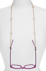 Women's L. Erickson 'Charmer' Eyeglass Chain Crystal Gold