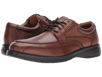 Dockers Barker Moc Toe Oxford Dark Tan Polished Full Grain Shoes Brown