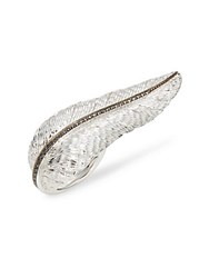 Michael Aram Black Diamond And Sterling Silver Feather Ring No Color