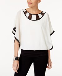Thalia Sodi Lace Colorblocked Top Created For Macy's Cloud