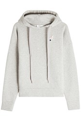 Closed Cotton Hoodie With Patch Grey