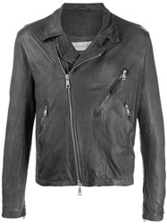 Giorgio Brato Textured Leather Biker Jacket 60