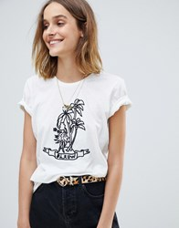 Maison Scotch Tattoo Inspo Print T Shirt 1 White