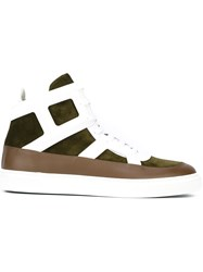 Louis Leeman Lace Up Hi Top Sneakers Green