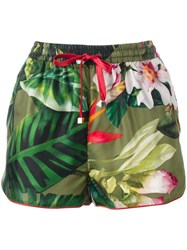 F.R.S For Restless Sleepers Floral Patterned Shorts Green