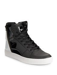 Creative Recreation Round Toe High Top Sneakers Black White