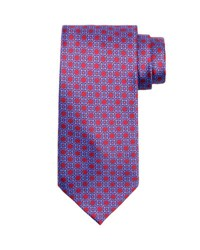 Stefano Ricci Medallion Silk Tie Red Blue