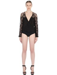 Christies Chiffon And Lace Bodysuit