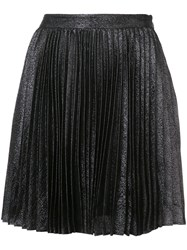Zac Posen Skyler Pleated Skirt Black