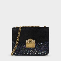 Charles And Keith Embellished Buckle Crossbody Bag Black
