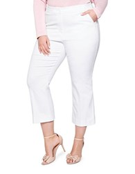 Addition Elle Michel Studio Solid Cropped Pants Snow