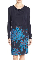 Boss Women's 'Fausa' V Neck Cardigan Navy