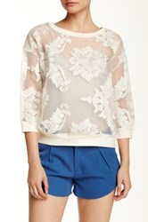 Romeo And Juliet Couture Lace Sweatshirt White