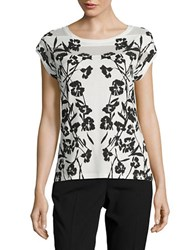 Karl Lagerfeld Floral Knit Top Black Combo