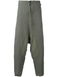 Lost And Found Rooms Drop Crotch Loose Fit Trousers Grey