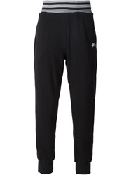 Stussy Striped Waistband Track Pants Black