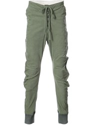 Greg Lauren Army Tent Lounge Pants Cotton Green