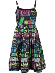 Moschino Neon Sign Dress Black