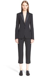Lanvin Wool Gabardine Tux Jacket Black