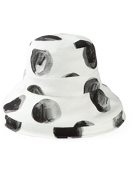 Dolce And Gabbana Large Polka Dot Print Cloche Hat White