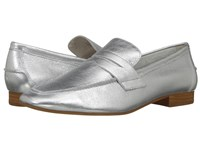 Lfl By Lust For Life Offer Silver Leather Women's Slip On Dress Shoes
