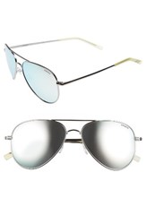 Polaroid Men's Eyewear 6012 N 56Mm Polarized Aviator Sunglasses Ruthenium Grey Silver Mirror Ruthenium Grey Silver Mirror