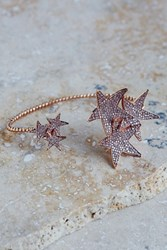 Free People Womens Star Cluster Hand Cuff