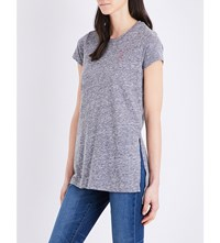 Sundry Oh La La Cotton Blend T Shirt Heather Grey