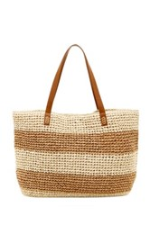 Straw Studios Straw Tote Brown