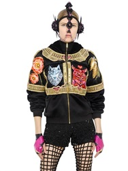 Manish Arora Embellished Faux Fur And Satin Jacket