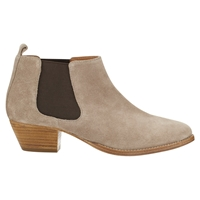 Jigsaw Sally Suede Ankle Boots Mocca