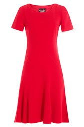 Boutique Moschino Dress With Flared Skirt Red