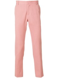 Daniele Alessandrini Tailored Fitted Trousers Pink And Purple