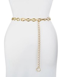 Neiman Marcus Geo Chain Belt Gold