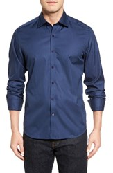 Stone Rose Men's Tonal Stripe Sport Shirt Navy